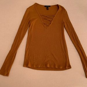 Rusty orange Forever 21 long sleeve top